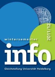 agenda wintersemester - Ruprecht-Karls-Universität Heidelberg