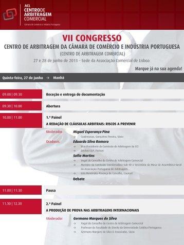 VII Congresso de Arbitragem Comercial