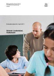 Evaluationsbericht 2011 - Schule Volketswil
