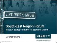 SE Region Forum, 9-23-10 - Missouri Department of Economic ...