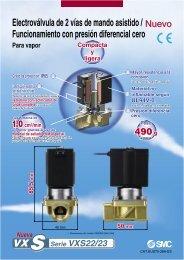 Electroválvula de 2 vías de mando asistido ... - SMC ETech
