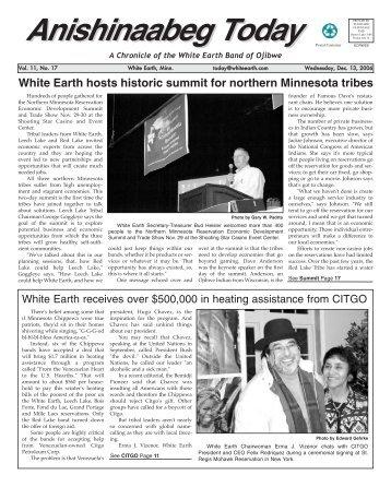 Anishinaabeg Today - White Earth Nation