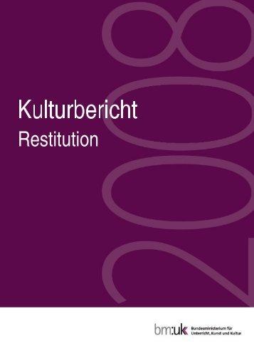 Kulturbericht 2008 - Lootedart.com