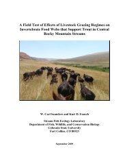 A Field Test of Effects of Livestock Grazing Regimes on Invertebrate ...
