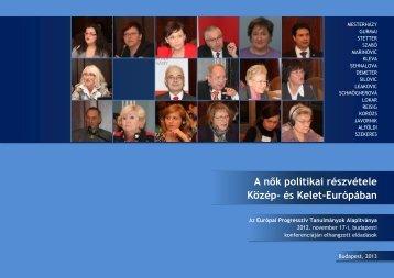 A nők politikai részvétele Közép- és Kelet-Európában - Gurmai Zita
