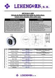 ARTICULO: 2402 Válvula de Retención tipo wafer de ... - Lehengoak