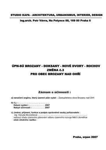 Brozany (pdf) - Městský úřad Litoměřice