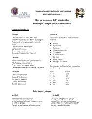 Etimologías griegas - Preparatoria 22 - Universidad Autónoma de ...