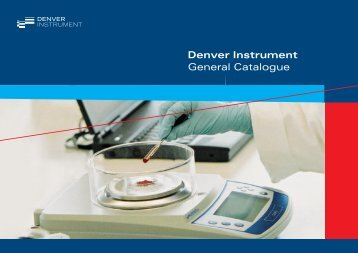 Denver Instrument General Catalogue