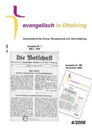 Gemeindebrief der Evang. Pfarrgemeinde A.B. Wien-Ottakring Nr ...