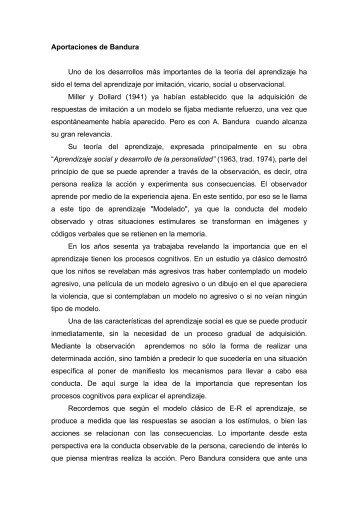 Aportaciones de Bandura - Página principal