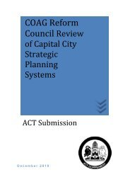 Submission to COAG Reform Council Cities Self Assessment