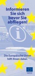 Informieren Sie sich bevor Sie abfliegen! Die ... - EU-Direct