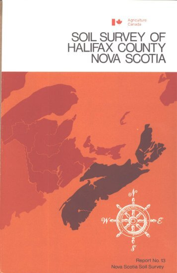 soil survey of halifax county - Agriculture and Agri-Food Canada