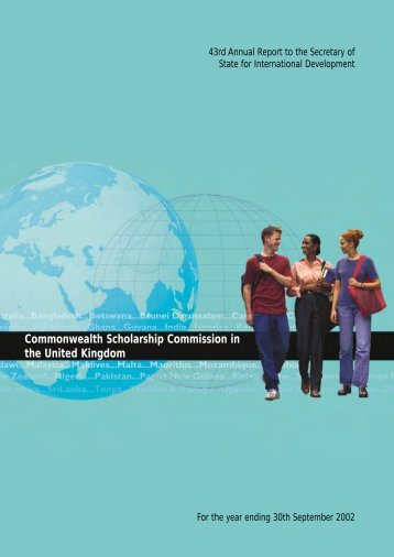 43rd Annual Report - Commonwealth Scholarship Commission in ...
