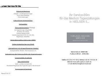 Unsere Medien-Liste - VERLAGS-MEDIEN-SERVICE