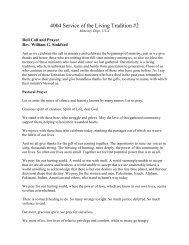 Sermon by Rev. Dr. William G. Sinkford (PDF) - Unitarian ...