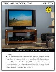 bell'o international corp. avsc-2052e espresso wood finish audio ...