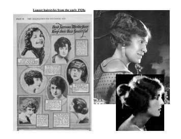 Longer hairstyles from the early 1920s