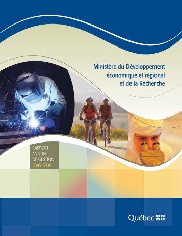 Ministère du Développement économique et ... - Tourisme Québec