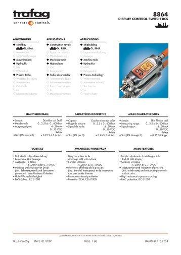 DISPLAY CONTROL SWITCH DCS - Dart Instruments