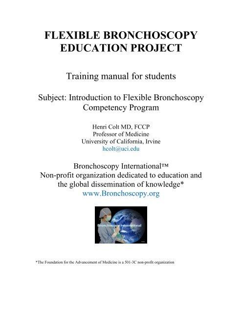 flexible bronchoscopy education project - Bronchoscopy
