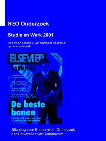 Studie & Werk 2001 - SEO Economisch Onderzoek