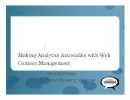 TeamSite Web Analytics Integration