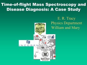 Time-of-flight Mass Spectroscopy and Disease Diagnosis: A Case ...