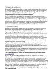 Datenschutzerklärung - Energiewelt.de