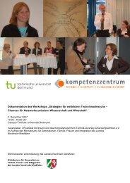 """Dokumentation """"Strategien für weiblichen Techniknachwuchs"""