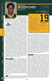 NFL Gm. Played/Started - Packers.com, the official website of the ...