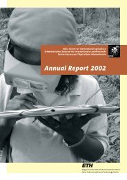 Annual Report 2002 - ETH - North-South Centre North-South Centre