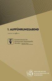1. AUFFÜHRUNGSABEND - Staatskapelle Dresden