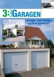 Garager - helt færdige -lige til at parkere i!