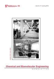 Spring - Chemical & Biomolecular Engineering - North Carolina ...