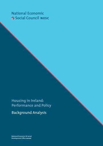Housing in Ireland - National Economic & Social Council