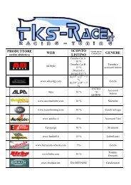 PRODUTTORE WEB SCONTO LISTINO GENERE - TKS-Race