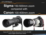 Sigma 150-500mm zoom compared with Canon 100-400mm zoom