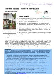 2008 case study by Impetus Consulting for ... - Eco Open Houses