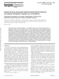 Synthesis, Structures, Spectroscopic and Electrochemical Properties ...