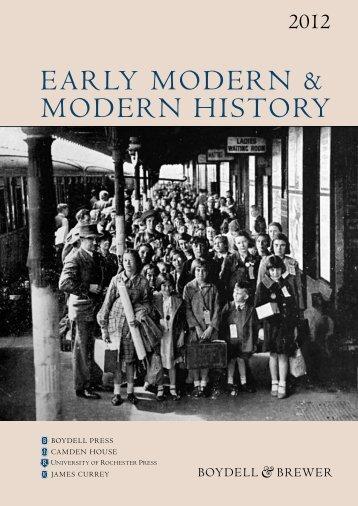 Early MODErN & MODErN HISTOry - University of Rochester Press