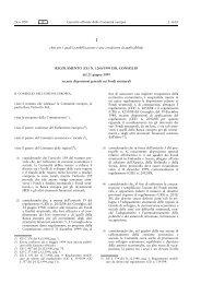 REGOLAMENTO (CE) N.1260/1999 DEL CONSIGLIO del 21 giugno ...