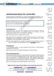 Arbeitsmaterialien Sekundarstufe - Credo - das ... - bei eDidact