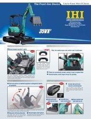 35VX-3 Mini Excavator - IHI Compact Excavator Sales