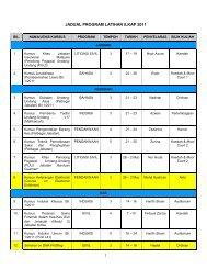 cadangan jadual program latihan ilkap 2009 - Institut Latihan ...