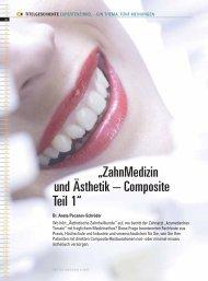 """""""ZahnMedizin und Ästhetik – Composite Teil 1"""" - Zahnheilkunde.de"""