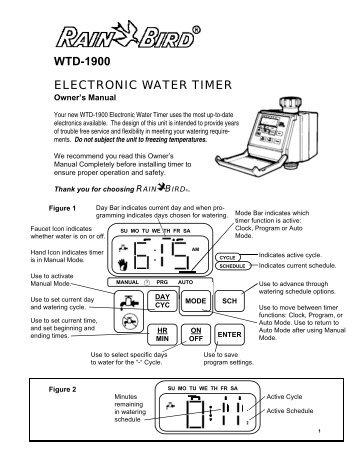 Rain Bird WTD-1900 Battery Operated Hose End ... - Irrigation Direct  sc 1 st  Yumpu & WTD-1900 ELECTRONIC WATER TIMER - Rain Bird