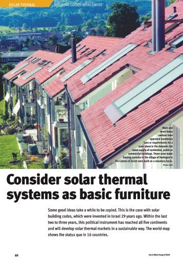Consider solar thermal systems as basic furniture - solrico