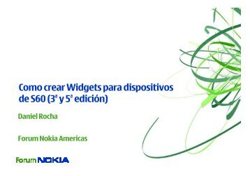 Web Runtime Widgets for S60 3rd & 5th Edition ... - Nokia Developer